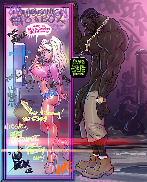 Fascinating interracial adult comics action